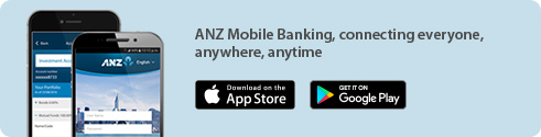 ANZ Mobile Banking, connecting everyone, anywhere, anytime.