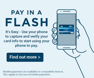 Pay in a flash.