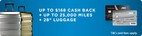 "UP TO $168 CASH REBATE + UP TO 25,000 MILES +28""LUGGAGE"