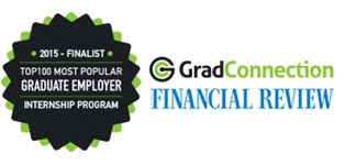 2016 finalist top 100 most popular graduate employer internship program logo
