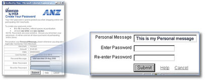 Example create a personal message screen