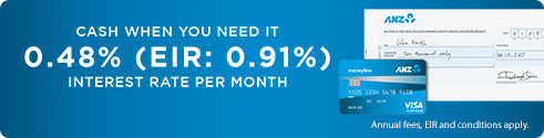 Cash when you need it 0.48% (EIR: 0.91%) interest rate per month