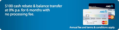 $100 credit & balance transfer  at 0%p.a.(EIR:2.16% p.a.) for 6 months.