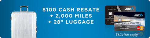 $100 cash rebate & balance transfer at 0% p.a. for 6 months with no processing fee.