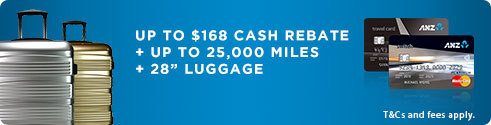 "Online Exclusive: S$100 cash rebate1 + 24"" Luggage"