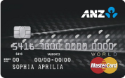 ANZ World product of credit card