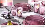 Receive a Bormioli dining set of 9 glass items