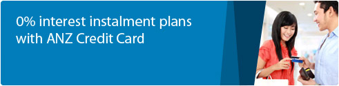 0% Interest Instalment Plans with ANZ Credit Card