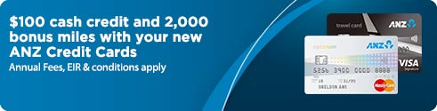 Upto S$138 cash credit and bonus miles with your new ANZ Credit Cards.Annual fees,EIR & conditions apply.