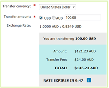 Exchange rate  timer and expiry example
