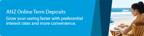 ANZ online term deposits