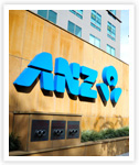 ANZ signage outside Kumho branch