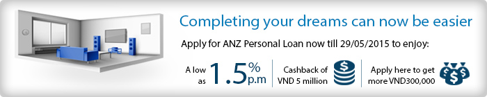 offers from ANZ Personal Loan