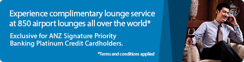 Experience complimentary lounge service at 850 airport lounges all over the world