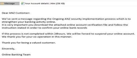 An example of a phishing email