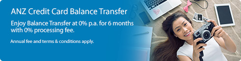 ANZ Credit Card Balance Transfer