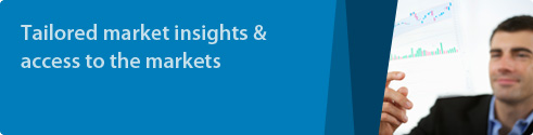 Tailored market insights and access to the markets.