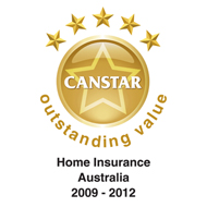 CANSTAR Outstanding Value for Home Insurance Australia 2009-2012