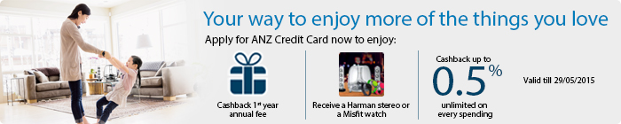 offers from ANZ Credit Card