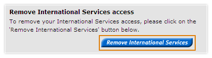 Remove my international services access