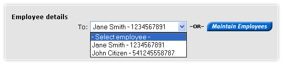 Make payroll payments - employee details