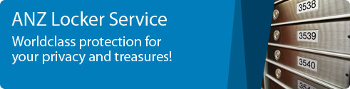 ANZ Locker Service Worldclass protection for your privacy and treasures